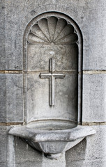 Cross and Holy Water Well