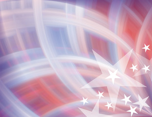 USA Patriotic Blurred Abstract Background