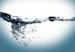 Leinwanddruck Bild water swirl