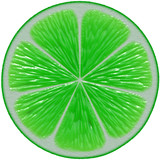 Lime cutout poster
