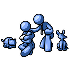 Blue Man Family