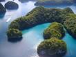 Leinwanddruck Bild - Rock Island (Micronesia), veduta aerea
