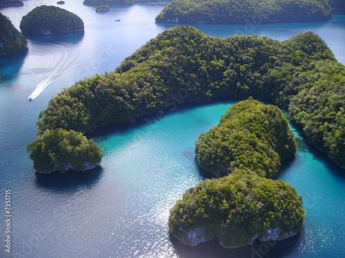 Leinwanddruck Bild Rock Island (Micronesia), veduta aerea