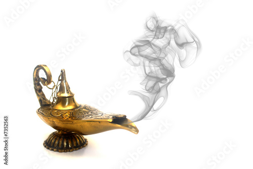 Poster Egypte Smoking Genie Lamp