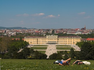 Resting in the park of Schonnbrunn