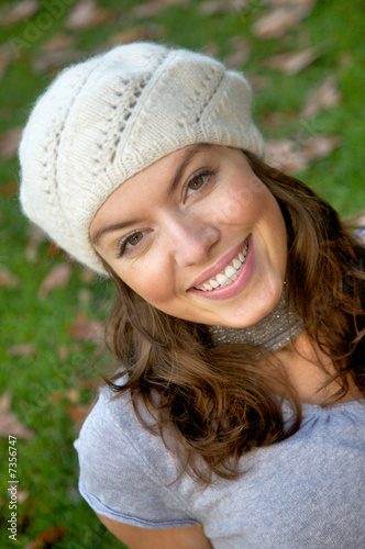beautiful casual woman smiling