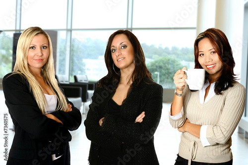 Diverse female business team from different background