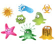 viruses and bacteriums