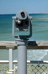 binocular view from fishing pier florida