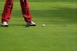 Golf detail. Hiting the ball.