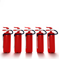 line of fire extinguishers 2