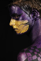 Painted fantasy face
