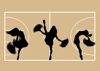 Cheerleaders Basketball 1