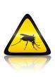Symbole de danger moustique (reflet métal)