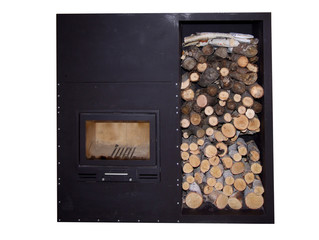 fireplace burning stove