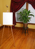 blank canvas and subject poster