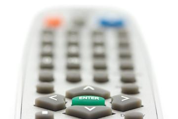 Closeup of enter and arrow buttons