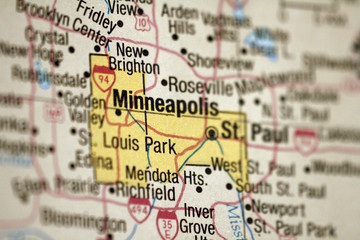 Map of Minneapolis, Minnesota