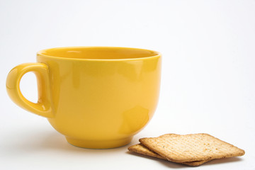 cup and biscuits