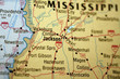 Map of Jackson, Mississippi