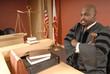 Leinwanddruck Bild - Judge in his courtroom