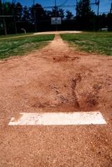 pitchers mound on baseball diamond