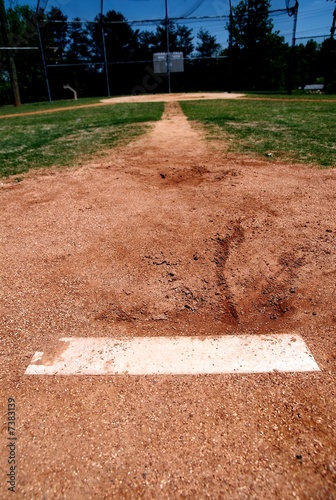 pitchers mound on baseball diamond