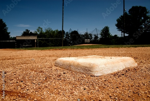 second base on the baseball field