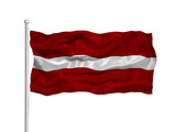 Latvia Flag 2 poster
