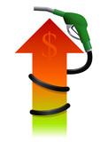 Fuel increase (dollar) poster