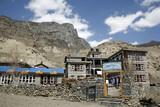 hotel lodge in manang, annapurna, nepal poster