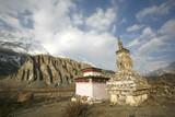 Tibetan shrine on annapurna circuit, nepal poster
