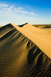 Sand dunes in Peninsula Valdes, Patagonia, southern Argentina. poster