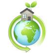 maison et planète terre