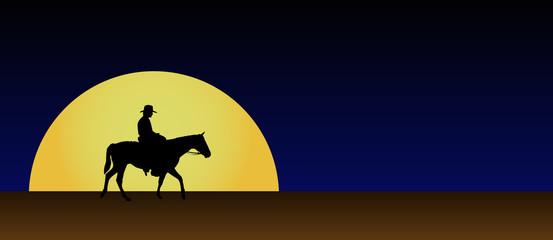 Cowboy en el desierto