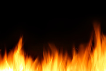 Burning fire background