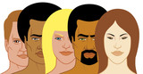 Interracial group of people poster