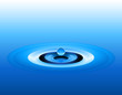 Ideal blue water splash in editable vector