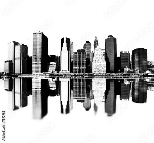cleveland skyline vector. new york skyline silhouette.