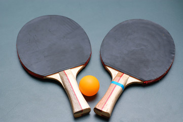 Ping Pong Paddles and Ball