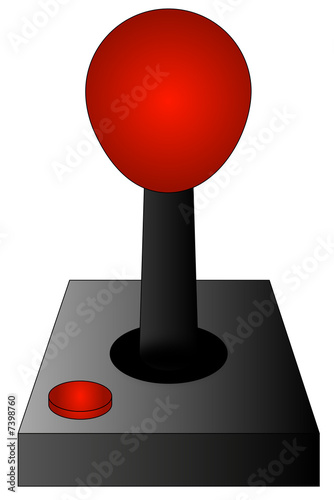 gaming joystick or controller isolated on white background