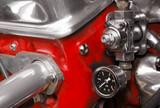 mechanical vehicle compressor valve close-up poster