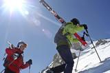 Fototapeta Telemark-Skitour in Livigno