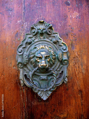 Papiers peints Venise Heurtoir de porte en métal ouvragé
