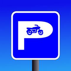 motorbike parking sign