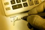 John Doe Signs His Name poster