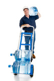 Water Delivery - Full Body Facing Forward poster