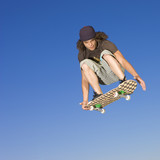 Skateboard tricks in air