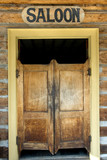 Authentic saloon doors in Montana ghost town poster