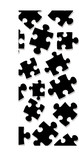 Abstract puzzle pieces that make an ideal background poster